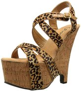 Pleaser USA Women's Beau-615/TLPPY/CK Platform Sandal