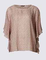 Marks and Spencer PLUS Kimono Embellished Shell Top