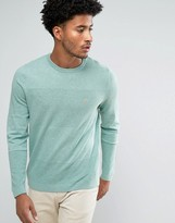 Farah Newgale Waffle Knit Sweater in Green