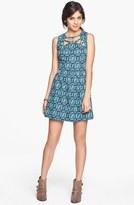 Mimichica Mimi Chica Cutout Print Skater Dress (Juniors)