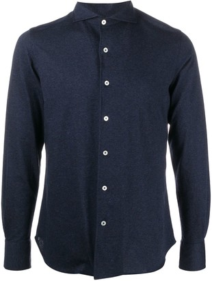 Canali French collar long-sleeved shirt