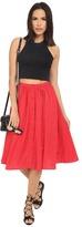 BB Dakota Raquel Fluff Printed Button Front Skirt