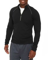 Robert Graham Knit Half-Zip Sweatshirt, Black