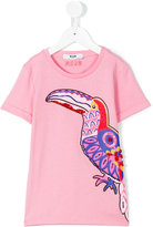 MSGM toucan T-shirt - kids - Cotton - 8 yrs