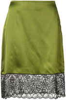 Marques Almeida Marques'almeida - lace detail straight skirt - women - Silk - 10