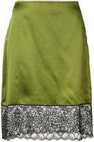Marques Almeida Marques'almeida - lace detail straight skirt - women - Silk - 6