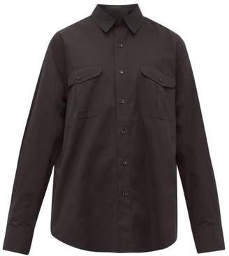 Wardrobe.Nyc Wardrobe.nyc - Release 03 Patch-pocket Cotton Shirt - Womens - Black