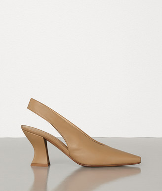 Bottega Veneta Almond Slingbacks In Nappa Dream