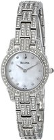 Bulova Women's Crystal Round Watch Mother-Of-Pearl 96L149