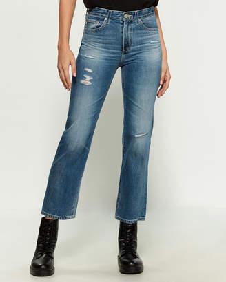 AG Adriano Goldschmied Rhett Vintage High-Waisted Straight Jeans