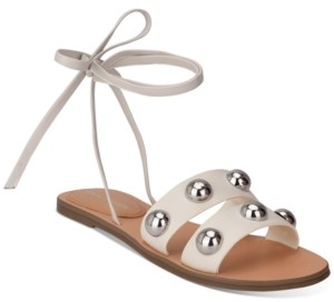 Marc Fisher Bryony Ball-Studded Ankle-Tie Sandals Women's Shoes