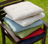 Pottery Barn Tufted Outdoor Dining Chair Cushion - Solid