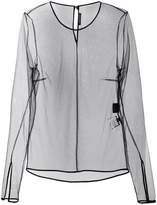 Versace transparent longsleeved top