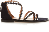 Alexa Wagner Thrilly scallop-strap sandals