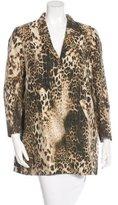Maje Leopard Print Oversized Blazer