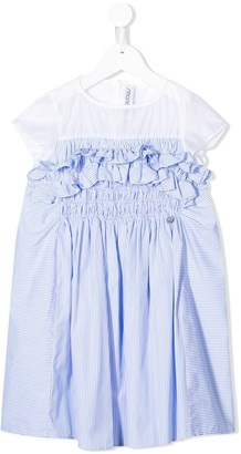 Simonetta Short-Sleeve Panelled Dress