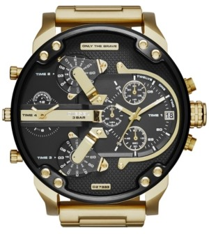 Diesel Men's Mr. Daddy 2.0 Gold-Tone Ion-Plated Stainless Steel Bracelet Watch 57mm DZ7333
