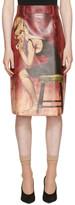 Prada Multicolor Faux-Leather Poster Girl Skirt