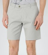 Reiss Reiss Wicker - Tailored Cotton Shorts In Green, Mens