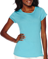 Liz Claiborne Short-Sleeve Fitted Knit T-Shirt