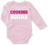 Urban Smalls Pink 'Cousins Squad' Long-Sleeve Bodysuit - Infant