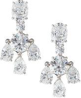 FANTASIA Oval/Pear-Cut CZ Chandelier Earrings