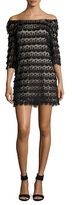 Trina Turk Rosaura Off The Shoulder Lace Dress