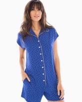 Soma Intimates Cap Sleeve Notch Collar Pajama Top Festivity Dot Gold Foil
