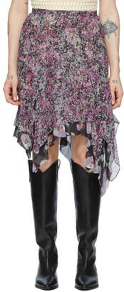 Isabel Marant Purple Silk Omyles Skirt
