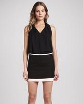Diane von Furstenberg Elley Layered Cotton Miniskirt