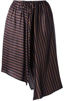 Christian Wijnants 'Sira' striped asymmetric hem skirt