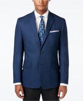 Kenneth Cole Reaction Men's Slim-Fit Blue and Black Houndstooth Sport Coat
