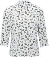 M&Co Petite ditsy fan print blouse