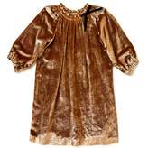 Marie Chantal Girls Velvet Dress - Gold