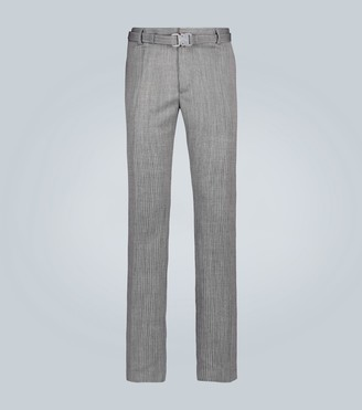 Alyx Wool pinstriped pants with buckle