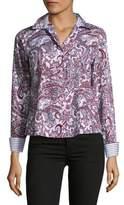 Lord & Taylor Cotton Paisley Print Shirt