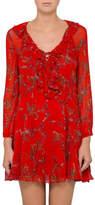 IRO Lucine Tie Up Red Print Dress