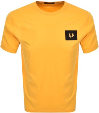 Fred Perry Acid Brights T Shirt Yellow