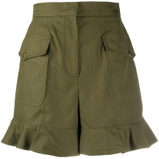 Alexander McQueen High-Waisted Ruffle Hem Shorts