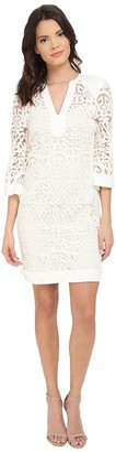 Hale Bob Women's Thrills and Frills Embroidered-Mesh Bead-Detail Dress