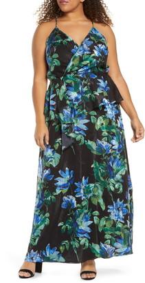 Marée Pour Toi Floral Print Two-Piece Maxi Dress