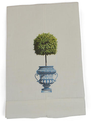 Set of 2 Topiary Guest Towels - Green - The French Bee
