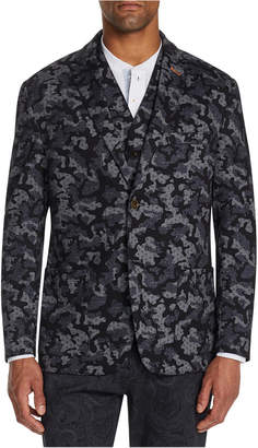 Tallia Men Slim-Fit Stretch Camo Print Knit Blazer