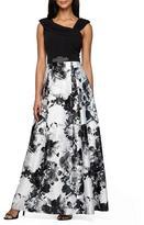 Alex Evenings Asymmetric Neckline Long Dress 150236