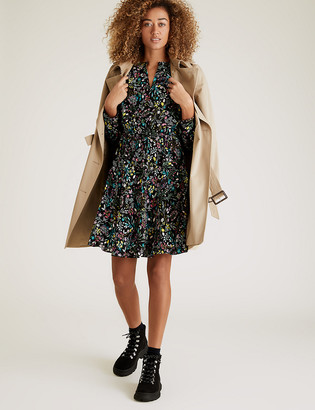 Marks and Spencer Floral Mini Waisted Dress