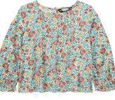 Ralph Lauren Pintucked Floral Top