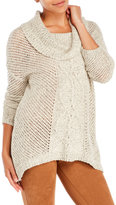Jack Open-Stitch Cowl Neck Sweater