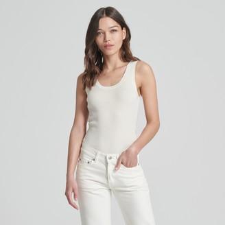 Naadam Summer Silk Tank White
