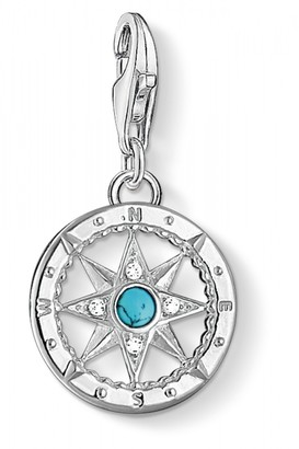 Thomas Sabo Ladies Sterling Silver Charm Club Compass Charm 1228-405-17