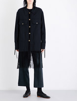 Song For The Mute Fringed-hem drill jacket